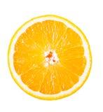 Один кусок сочного апельсина Стоковые Изображения RF