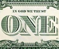 Один макрос долларовой банкноты Стоковые Фотографии RF