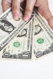 Один доллар счета в наличии Стоковые Изображения