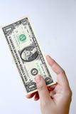 Один доллар счета в наличии Стоковая Фотография RF