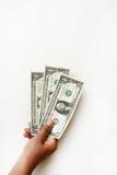 Один доллар счета в наличии Стоковая Фотография