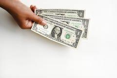 Один доллар счета в наличии Стоковое Изображение RF