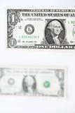 Один доллар счета Стоковая Фотография
