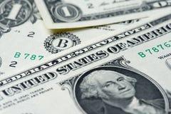 Один доллар США в съемке макроса Стоковые Изображения RF