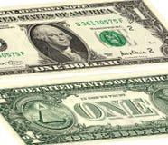 Один доллар США Фронт и обратная сторона Стоковые Фото