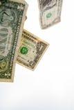 Один падать долларовых банкнот Стоковое Изображение RF