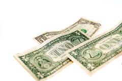 Один падать примечаний доллара Стоковое фото RF