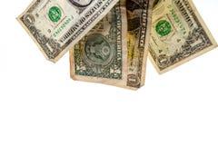 Один падать примечаний доллара Стоковые Изображения
