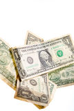 Один падать примечаний доллара Стоковая Фотография RF
