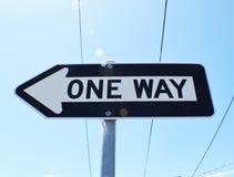 Один путь Стоковое Изображение