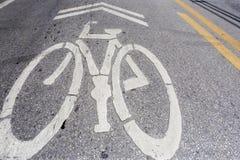 один символ дорог велосипедистов велосипеда Стоковая Фотография RF