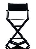 Один силуэт стула директора Стоковая Фотография