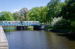 Один типичный трамвай в Гётеборге Стоковое Фото