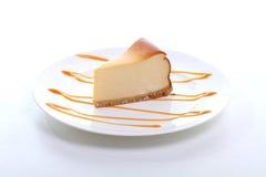 Один торт на тарелке Стоковое Изображение RF