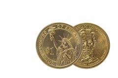 Один obverse доллара США и обратная монетка Стоковое Изображение RF