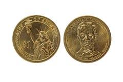 Один obverse доллара США и обратная монетка Стоковая Фотография