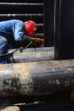 один welder Стоковая Фотография RF