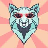 Одичалая татуировка волка Стоковое Фото