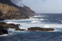 Одичалое побережье Barlovento Стоковые Фотографии RF