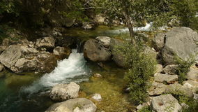 Одичалое река на Cote d'Azur, южной Франции акции видеоматериалы