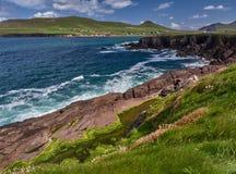 Одичалые волны на побережье полуострова Dingle Стоковое Изображение RF
