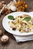 Одичалые макаронные изделия грибов Стоковое Изображение