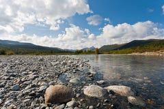Одичалый ландшафт в горах Ural. Стоковая Фотография