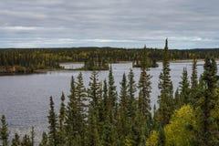 Одичалый ландшафт северо-западных территорий Стоковое фото RF