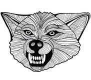 Одичалый волк. Векторные графики Стоковое Фото