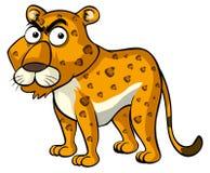 Одичалый гепард с сердитой стороной бесплатная иллюстрация