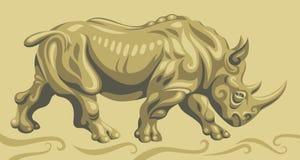 Одичалый носорог Стоковая Фотография