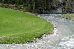 одичалый поток с кривыми Стоковое Изображение