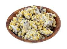 Одичалый угол блюда Chuncks еды птицы Стоковые Изображения RF