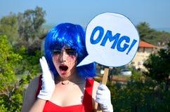 О мой бог девушка комиксов предназначенная для подростков Стоковое Изображение RF