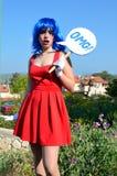 О мой бог девушка комиксов предназначенная для подростков Стоковые Фотографии RF