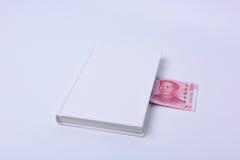 Одна белизна белой книги и денег одной Стоковая Фотография RF