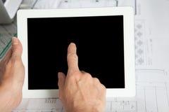 Одна вертикаль жеста пальца иллюстрация вектора