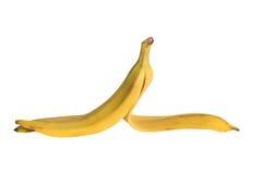 Одна желтая кожа от изолированного банана Стоковое фото RF