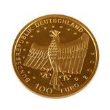 Одна золотая монетка евро hundret Стоковая Фотография RF