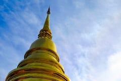 Одна золотая пагода стоковое фото rf