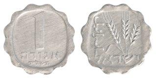 Одна израильская старая монетка агоры Стоковое фото RF