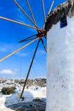 Одна из ветрянок Mykonos, Греция Стоковые Фото