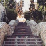 Одна из красивых лестниц Наблуса Стоковая Фотография RF