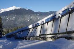 Одна из 16 кривых Whistler сползая центр Стоковое Фото