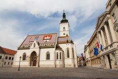 Церковь St Mark в Хорватии Стоковые Фотографии RF