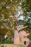 Одна из самых старых ветрянок в Европе для меля зерен в f Стоковое Изображение RF