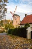 Одна из самых старых ветрянок в Европе для меля зерен в f Стоковые Изображения