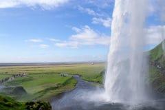 Одна из сотен wter понижается в Исландию Стоковые Фотографии RF