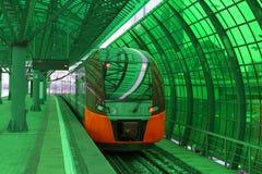 Одна из станций новой линии круга метро Москвы Стоковое Изображение