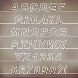 Одна линия шрифт Стоковое фото RF